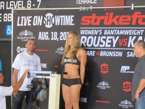 Rousey Weigh-In