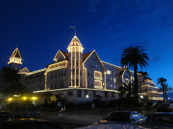 The Hotel Del with Christmas Lights, Coronado,  CA