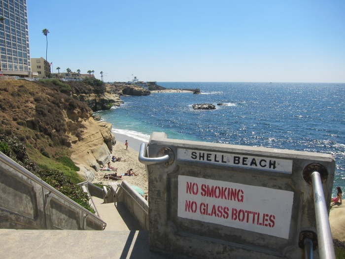 Shell Beach in La Jolla, CA
