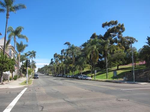 Balboa Park along Sixth Avenue.