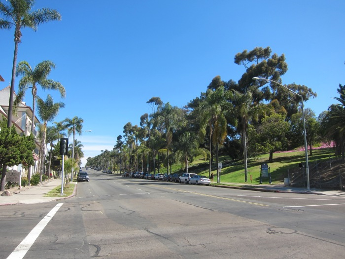 Balboa Park along Sixth Avenue.
