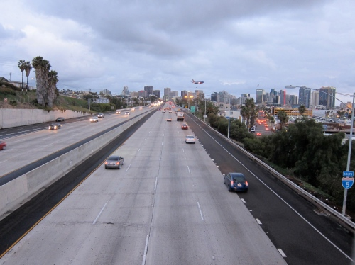 Heading into Downtown San Diego on the 5.