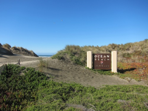 Entrance to Ocean Beach, San Francisco.