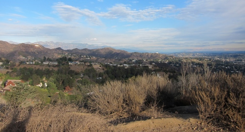 The view south from the top of Runyon Canyon, Los Angeles.