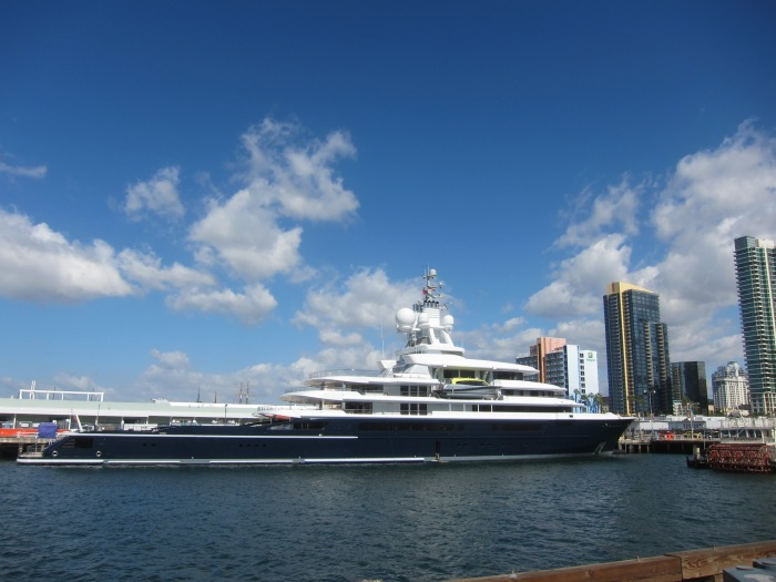 Super Yacht Luna in San Diego