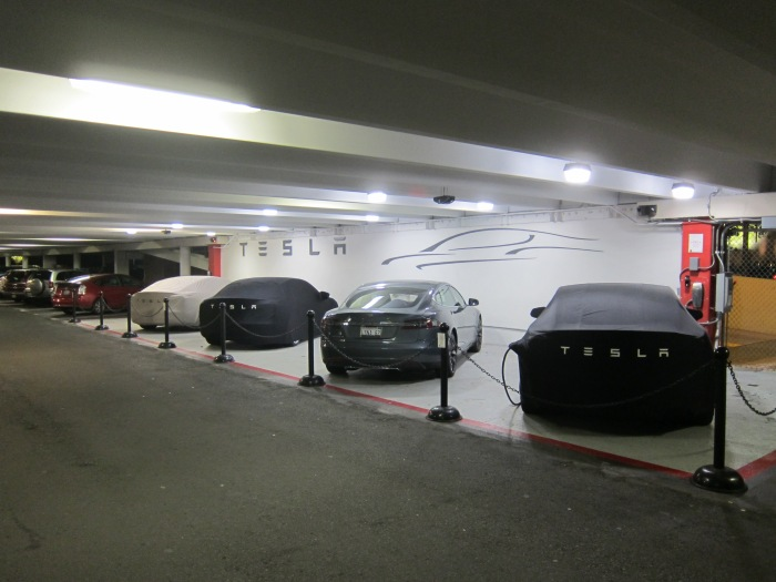 Tesla Charging Station at UTC Mall, San Diego