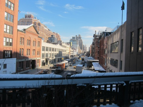 The view of 14th street from the High Line