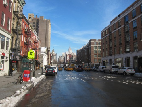 6th Avenue, Greenwich Village, facing North.