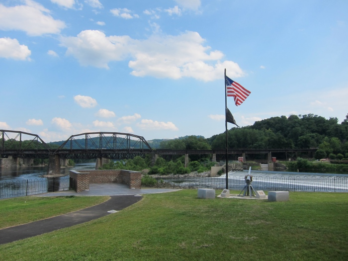 The Delaware River and The Lehigh River meet in Easton, PA