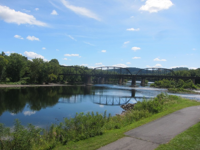 The Delaware River. View is South from Easton, PA.
