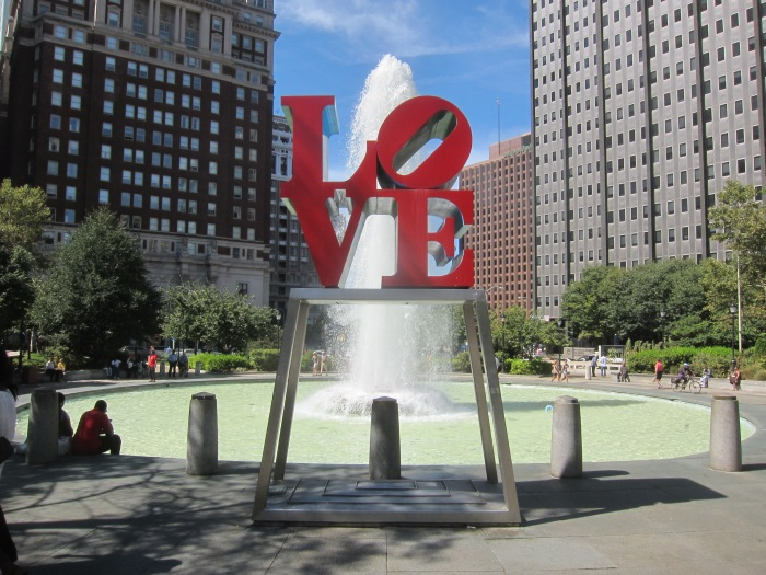 The LOVE sculpture at JFK Plaza