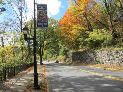 The Road up to College Hill, Easton, PA.