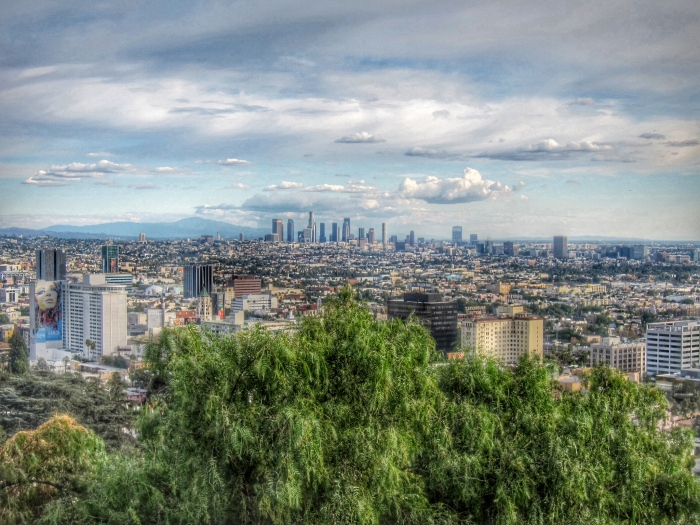 Hollywood and Downtown Los Angeles from Runyon Canyon