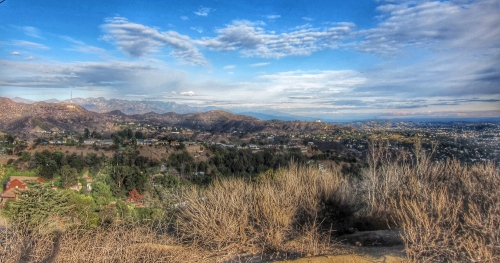 Mountain View at Runyon Canyon, Los Angeles.