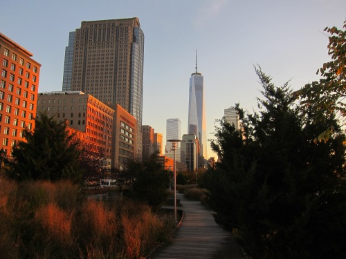 1 WTC view from the Hudson River Greenway