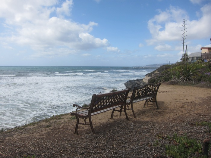 Benches in Ocean Beach, San Diego