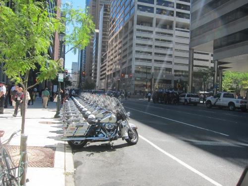 Philadelphia PD motorcycles, Market St.
