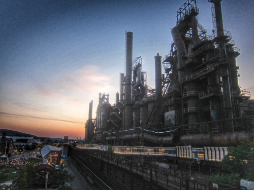 The Bethlehem Steel Blast Furnaces at Twilight