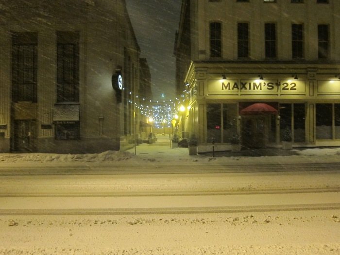 The Bank Street Alley in Winter - Downtown Easton, PA