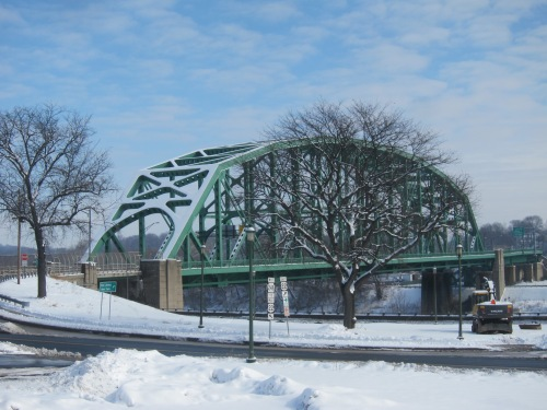 Snow Covered Easton-Phillipsburg Toll Bridge-Feb 2015