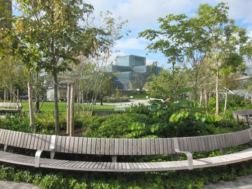 Green Space at the Hudson Yards Subway Station - NYC