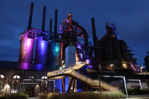 Steel Stacks Stairway at Night.jpg